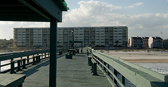 View from the pier to the AMELIA by the SEA building