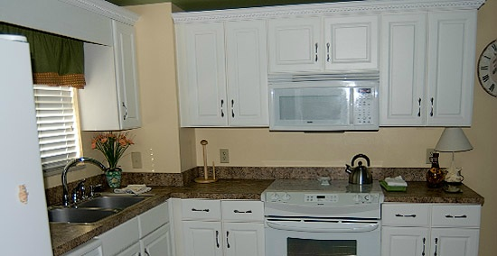 The kitchen of one of our 2-bedroom units