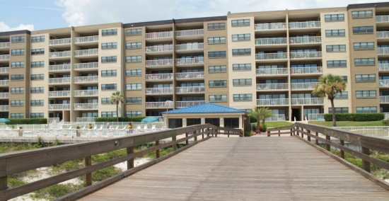 Rear of Condo from Pier