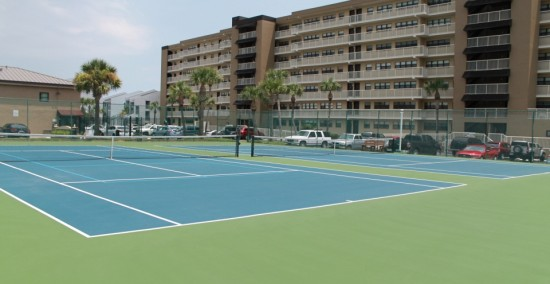 Condo Front with Tennis Courts