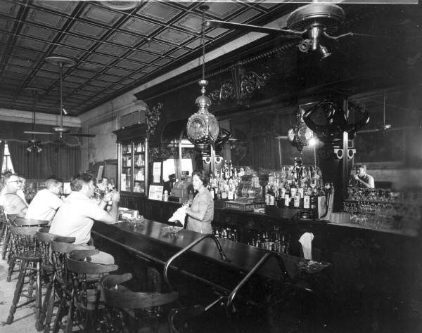 Inside of the Amelia Island Palace Saloon