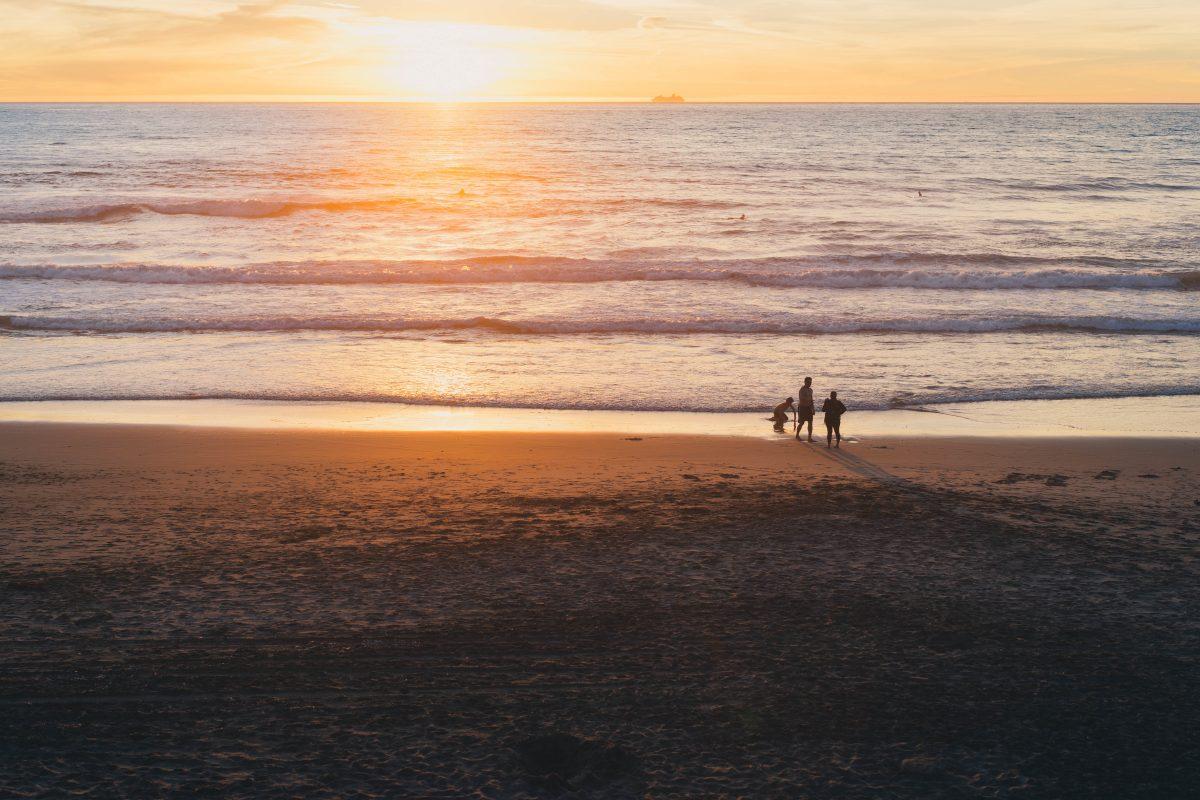 sunset over amelia island beach