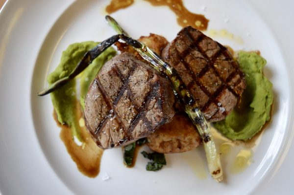 steak dish at davids restaurant amelia island