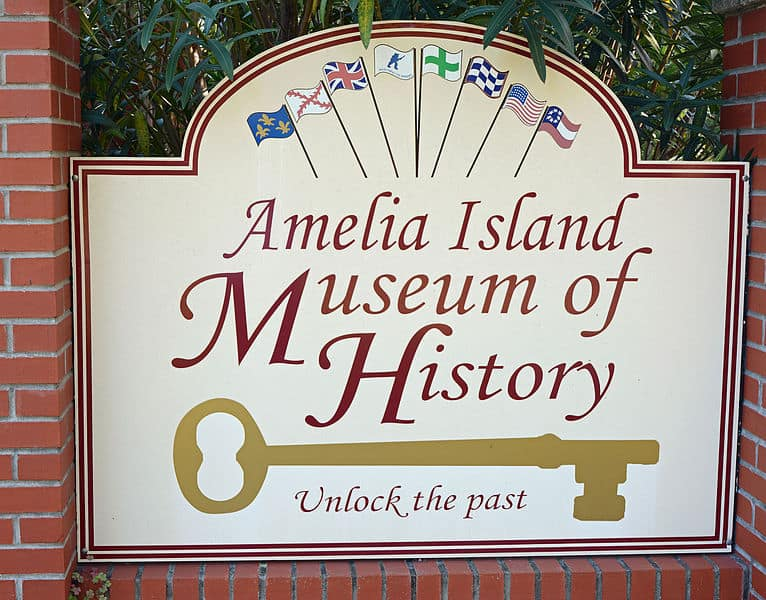 Amelia Island Museum of History sign