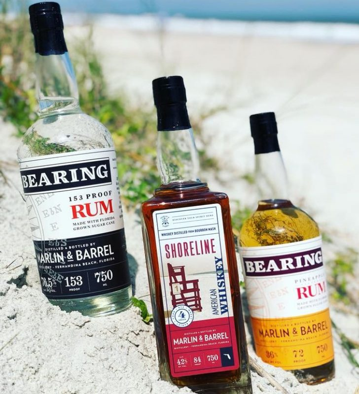 Marlin & Barrel Distillery Rum on the beach