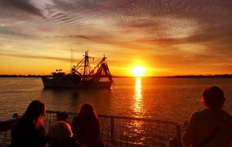 Amelia river cruise at sunset
