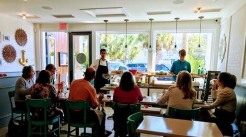 image of a culinary class in session
