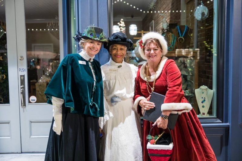 ladies dressed in historic wear