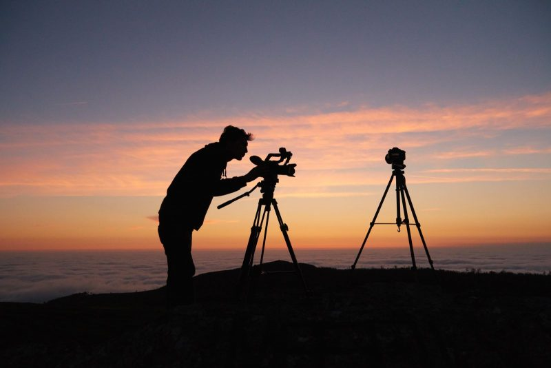 Outdoor photography at sunrise
